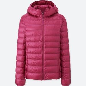 Uniqlo Raspberry Packable Down Jacket